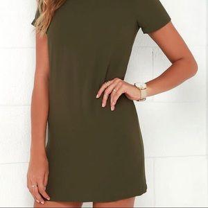 Shift & Shout Olive Dress
